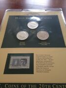 Lot Of Obsolete And Modern Coins With Stamps In Plastic Page 9