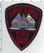 State Police Rhode Island 1st Issue Thin Border Shoulder Patch