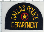 Very Rare - Dallas Police Department Texas Wide Felt Shoulder Patch 1970and039s