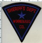 Winnebago County Sheriff Wisconsin Felt Shoulder Patch From 1970's - Very Rare