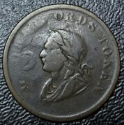 1834 Old Canadian Coin - George Ords Copper Token - Irish Half Penny Br61 - Rare
