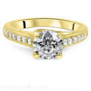 Si1/d 1.29 Tc Engagement Diamond Ring Solitaire With Accent Enhanced Round Cut