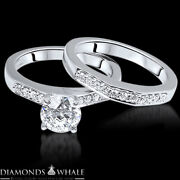 Wedding Round Enhanced Diamond Ring Solitaire Accents Vs1/d 1.46 Tcw White Gold