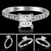 1.11 Tcw Solitaire With Accent Princess Diamond Ring Vs2/d Engagement Enhanced