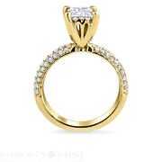 Solitaire With Accent 1.35 Tcw Diamond Enhanced Ring Yellow Gold Princess Si2/d
