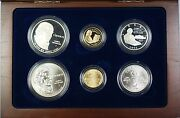 1993 Bill Of Rights Commem 5 1 50c Proof And Unc Gold, Silver, Clad 6 Coin Set