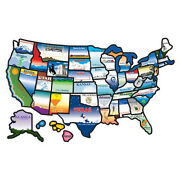 Us States Travel Sticker Wall Decor Home Rv Trailer Camper Map Decal Permanent