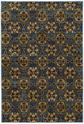 Andorra By Oriental Weavers. Traditional Oriental Area Rug. Blue/gold 6883c