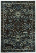 Andorra By Oriental Weavers. Traditional Oriental Area Rug. Navy/blue 7124a
