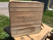 Vtg American Stoveboard Metal Tin Wood Stove Sign Advertising Floor Chic