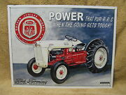 Ford Jubilee Farming Tractor Tin Metal Sign Motors New