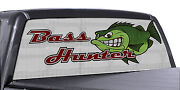 Fgd Truck Rear Window Fishing Bass Hunter Perforated Vinyl Decal Wrap