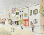 Maurice Utrillo French 1883-1955 Lithograph Paris Les Gobelins Signed