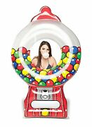 Giant Gumball Machine Pool Float 5ft Long Bright Lounge Swim Vacation Bmpf-gu