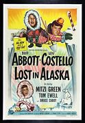 Abbott And Costello Lost In Alaska ✯ Cinemasterpieces Movie Poster Cold Snow '52