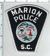 Marion Police South Carolina Shoulder Patch From The 1980's