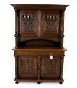 Antique French Buffet Sideboard Vintage Credenza France 1910 B774