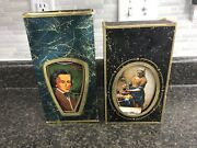 Vintage 1970s Jim Beam's Choice Decanters Maidservant And Chopin W/ Box And Insert