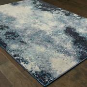 Evolution By Oriental Weavers. Contemporary Abstract Area Rug. Navy/ivory 8000b
