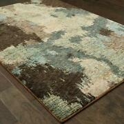Evolution By Oriental Weavers. Contemporary Abstract Area Rug. Blue/brown 8011b
