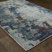 Evolution By Oriental Weavers. Contemporary Abstract Area Rug. Blue/navy 8049b