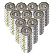 100x Ss6203-zz Ball Bearing 17mm X 40mm X 12mm Metal Sealed Stainless Steel New