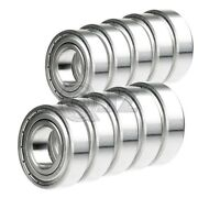 10x 6203-zz Ball Bearing 1/2 Inch X 40mm X 12mm Double Shielded Seal New Qjz