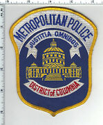 District Of Columbia Metropolitan Police Washington, Dc Shoulder Patch Stained