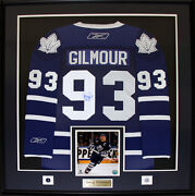 Doug Gilmour Toronto Maple Leafs Signed Blue Jersey Nhl Hockey Collector Frame