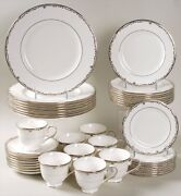 Lenox China Coronet Platinum 5 Piece Place Settings For Up To 14 Guests