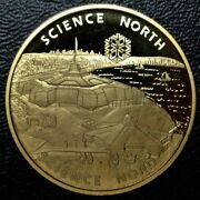 1984 Science North Sudbury, Ontario Frosted Proof 24kt Gold Plated - Nice