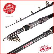 Plusinno Telescopic Fishing Rod Pole Spinning Fishing Rod Carbon Fiber Travel...