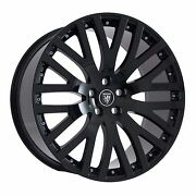 22 Staggered Set Gloss Black Wheels And Tires Rims For Jaguar Xj 2012-2016