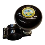 Black Steering Wheel Suicide Spinner Power Handle Knob Car And Truck Us Army Dept