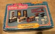 Vintage Disney Magic Town Square Furniture And Accessories Land World New In Box