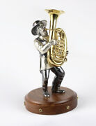 Silver Figurine Musician With A Trumpet