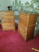Two Dressers And Bedroom Set Virginia House Solid Maple - Fantastic Condition