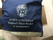 New John Atkinson 100 Pure New Wool Harlequin Blanket - Ivory In Full/double