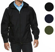 Menand039s Water Resistant Zip Up Hooded Lightweight Windbreaker Rain Jacket