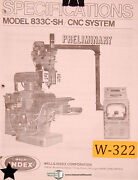 Wells Index 833c-sh, Cnc System Milling Operating Instruction Manual