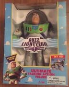 Thinkway Toys Disneyand039s Toy Story Ultimate Talking Action Figure Buzz Lightyear
