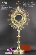 Large Brass Monstrance Reliquary Rare For Church Or Home Altar 36 3/5high X68
