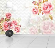 Sincere Pink Rose 3d Full Wall Mural Photo Wallpaper Printing Home Kids Decor