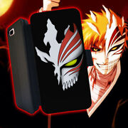 Bleach Anime Mask Hollow Manga Leather Wallet Iphone 7 6 6s 5 5s 4s 6 Plus Case