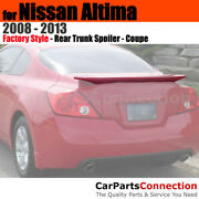Painted Abs Trunk Spoiler For 08-13 Nissan Altima Coupe K12 Radiant Silver Met