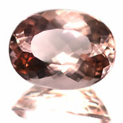 9.41 Ctw Best Collection 15x11 Mm Peach Color Natural Morganite