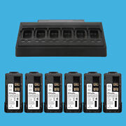 6 Bank Radio Charger + 6 Pack Durable Battery For Motorola Mototrbo Xpr3300