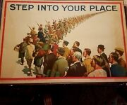 Original Vintage Wwi Poster - Step Into Your Place - Circa 1915