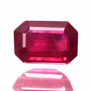 1.27 Ctw 7x4 Mm Outstanding Pigeon Blood Red Rare Burma Origin Natural Ruby