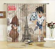 Clever Detective Conan 3d Curtain Blockout Photo Printing Curtains Drape Fabric